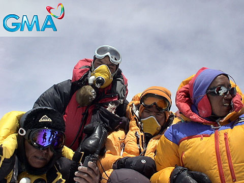 Romi Garduce on top of Everest